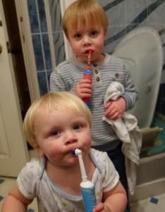 Teeth brushing!