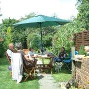 BBQ in garden 2008