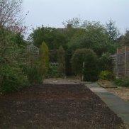 first soil laid in garden