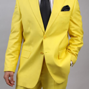 yellow business suit