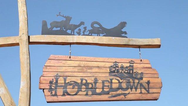 Hobbledown sign