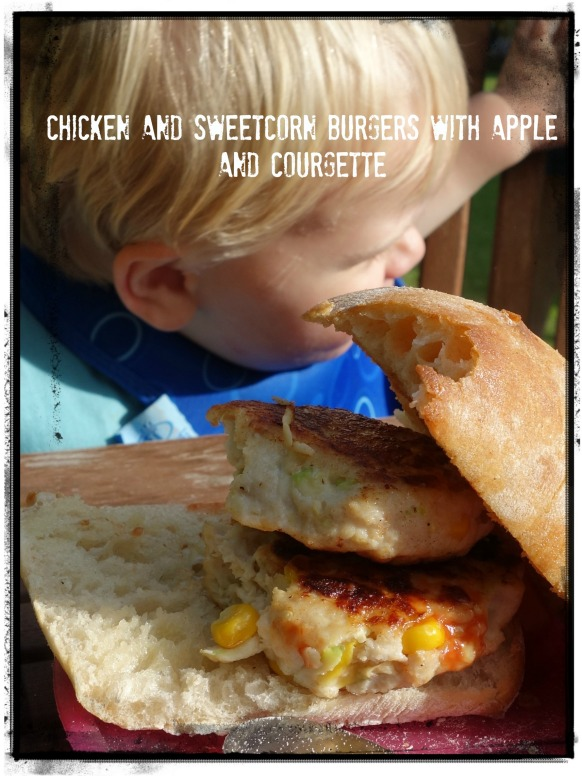 chicken and sweetcorn burgers