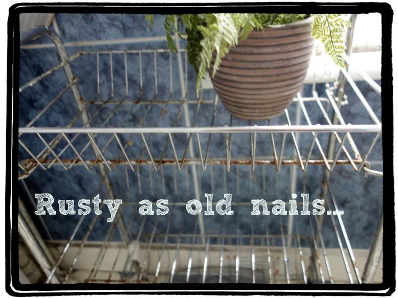 Rusty bath trolley