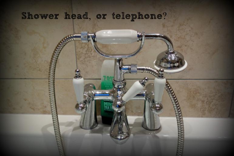 Shower head, or telephone