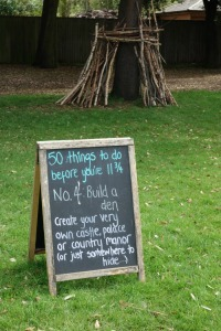 Ham House 'build a den'
