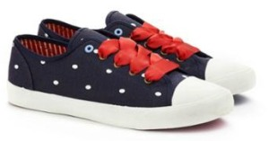 navy spot joules shoe