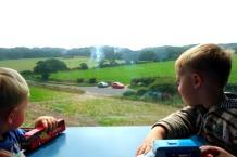 Norfolk boys on steam train