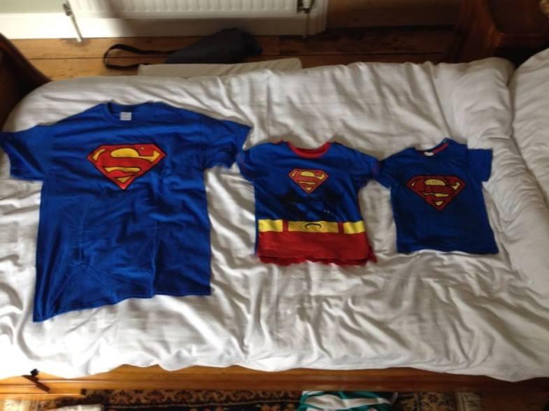 The Supermen shirts