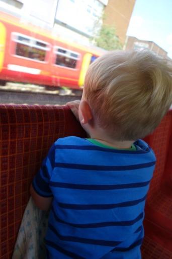 Train adventures - EJ watching