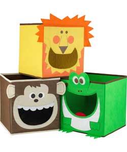 animal toy storage boxes
