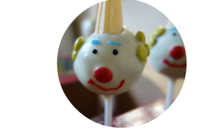Clown cake pop