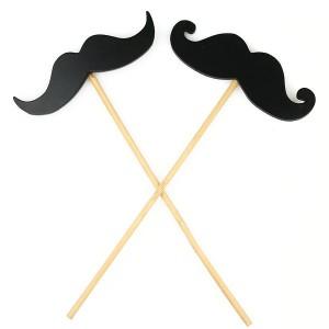 moustache on stick