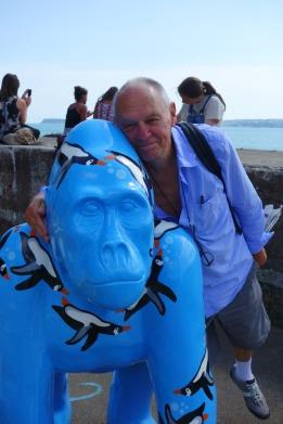 Devon Dad & gorilla at Living Coasts