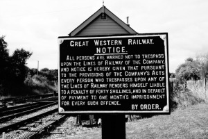 Devon Great Western Railway Notice