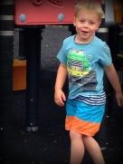 JJ at playground