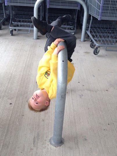 Dangling boy