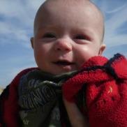 Joe on the beach age 4 months