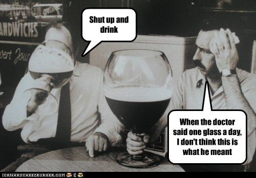 One glass a day
